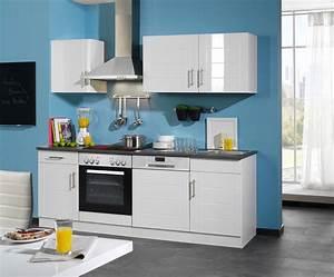 Küchenzeile 200 Cm : k chenzeile nevada k chenblock komplett k che mit e ger ten 220 cm weiss ebay ~ Indierocktalk.com Haus und Dekorationen