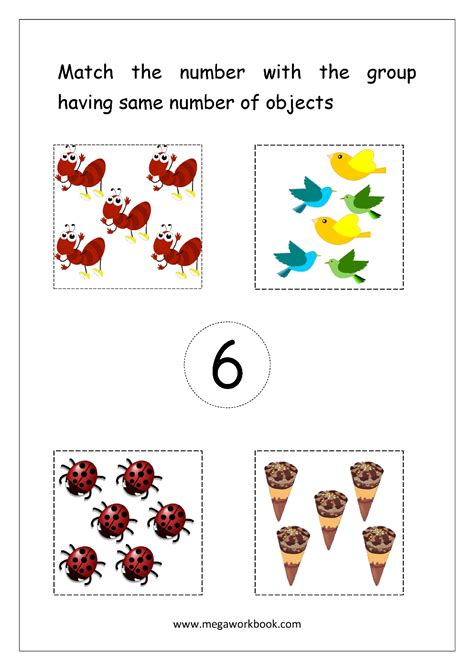 number matching worksheets count  match number