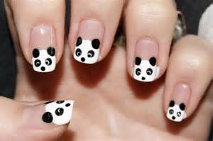 Panda nails kawaii nail art hawaii