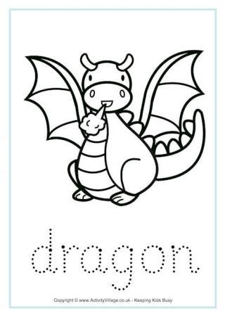 st george and the colouring page 895 | dragon tracing worksheet 460