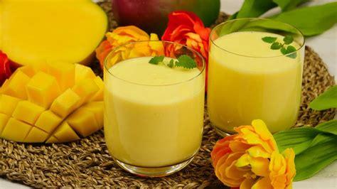 mango lassi indisches getraenk mit mango joghurt youtube
