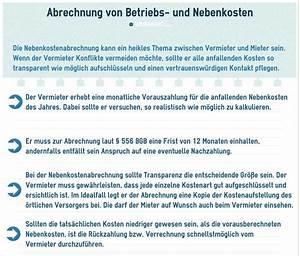 Nebenkosten Mietwohnung Berechnen : wohnung verpflichtungen des vermieters ratgeber ~ Themetempest.com Abrechnung