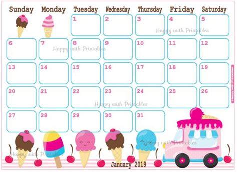 items similar  calendar january  ice cream planner