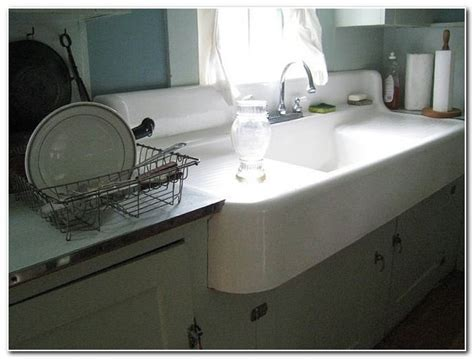 Double Kitchen Sinks With Drainboards   Sink And Faucet