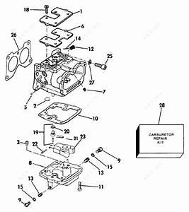 Evinrude 1989 110 - E110tlcem  Carburetor