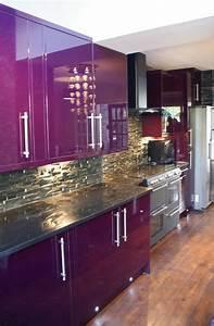 purple kitchen cabinets on pinterest With kitchen cabinets lowes with purple and gold wall art