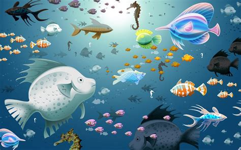 3d Animated Fish Wallpaper - aquarium animated wallpaper