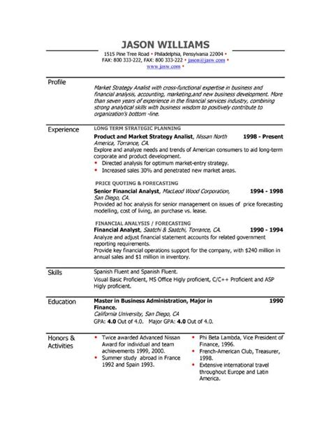 Free Resume Builder Sequential Format by Sle Resume 85 Free Sle Resumes By Easyjob Sle Resume Templates Easyjob