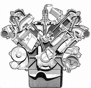 V8 Engine Drawing At Getdrawings
