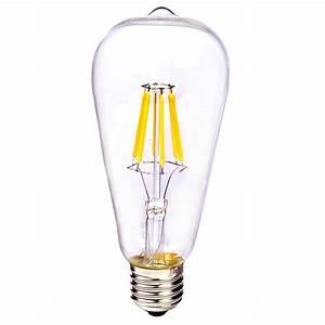 Ampoule Filament Vintage : e27 2 4 6 8w cob led ampoule filament vintage r tro edison ~ Edinachiropracticcenter.com Idées de Décoration