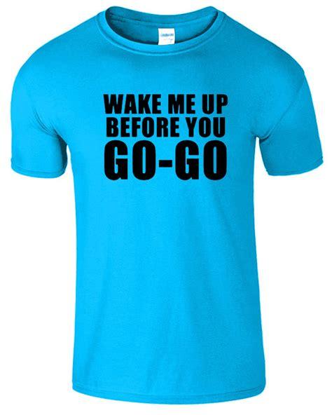 wham fashion wake me up before you go go t shirt wham retro 80s music