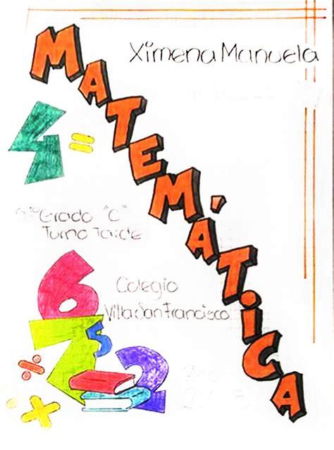 dibujos  caratulas de matematicas  secundaria
