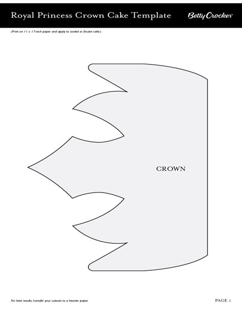 Crown Template For by Royal Princess Crown Cake Template Free