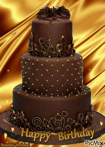 chocolate happy birthday cake gif pictures