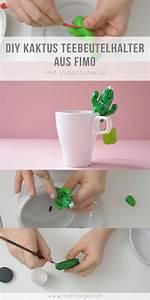 Modelliermasse Selbst Herstellen : kaktus teebeutelhalter aus fimo basteln diy inspiration und ideen zum selbermachen pinterest ~ Buech-reservation.com Haus und Dekorationen