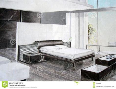 croquis de chambre croquis de chambre à coucher photo libre de droits image