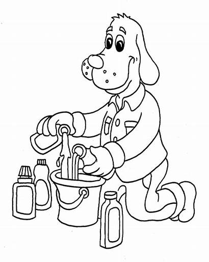 Coloring Pages Cleaning Clean Supplies Printable Cleanitsupply