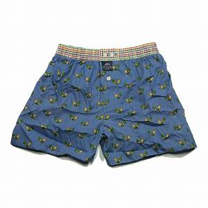 Mc ALSON Boxer short boy vichy blue with print chicken