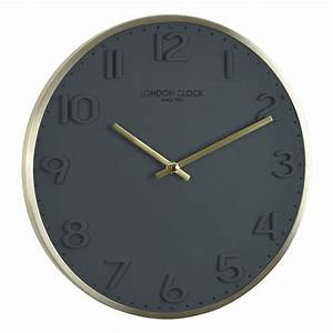 Buy Elvie Grey Wall Clock 30cm Online