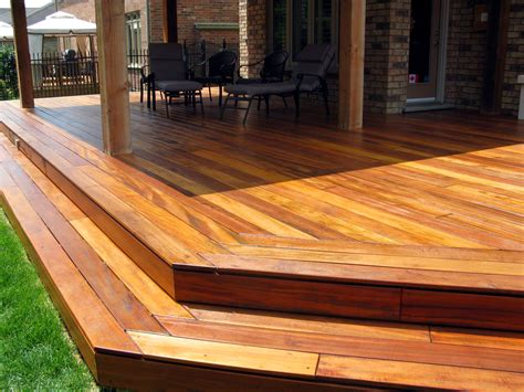 wood decking wood decking concrete patio