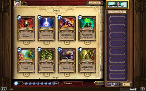 Basic Deck Hearthstone Druid by Druid Ready Made Decks Hearthstone Heroes Of Warcraft