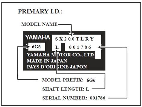 Yamaha Boat Motor Model Numbers by Yamaha Outboard Motor Serial Number Lookup Impremedia Net