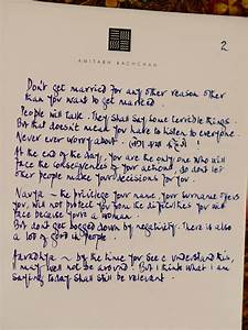 Amitabh bachchan39s beautiful letter to his granddaughters for Letter to granddaughter