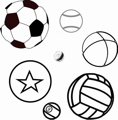 Balls Coloring Ball Clipart Sports Colouring Pages