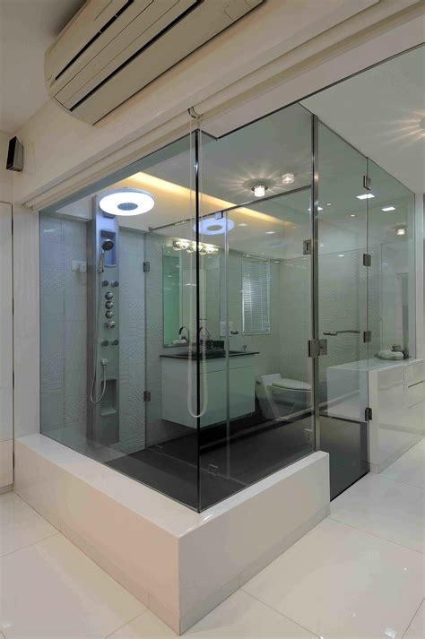 Modern Bathroom Design In India by Luxury Master Bathroom With Glass Doors Designed By