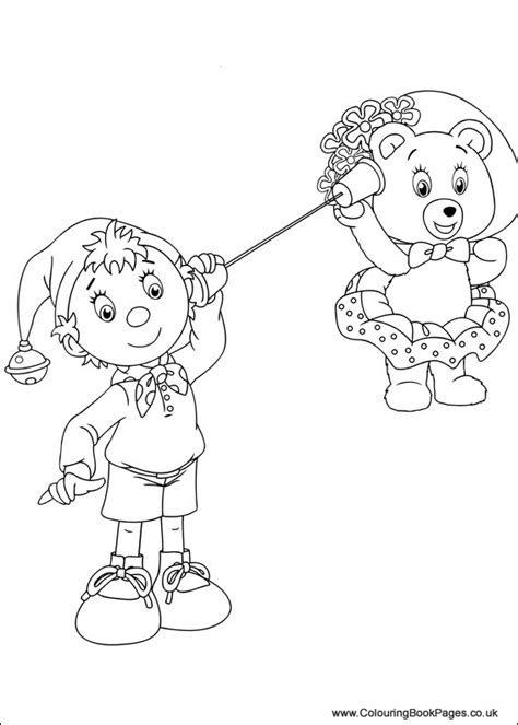 noddy colouring pages  character colouring