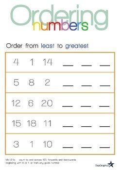 ordering numbers   greatest  eduflip tpt