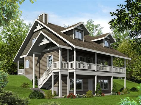 Plan 35507gh Porches Front And Back Walkout Basement