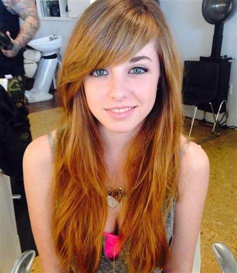 cute  effortless long layered haircuts  bangs