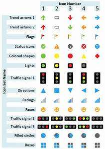 A Table Of Visio Data Graphic Icon Sets