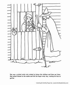 Hansel and grettle fairy tale story coloring pages for Stable 5v from old cells