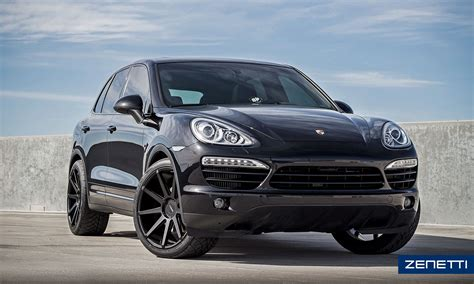 cayenne porsche black zenetti wheels esquire satin black porsche cayenne