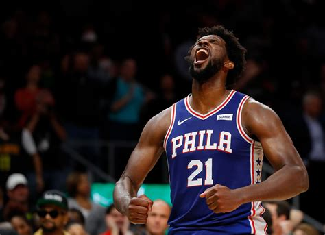 joel embiids career high  points leads sixers