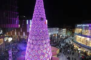 uk s tallest christmas tree lights up liverpool one liverpool echo