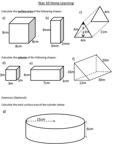 Surface Area And Volume Of Prisms By Dannytheref Teaching  Puzzles  Pinterest Worksheets