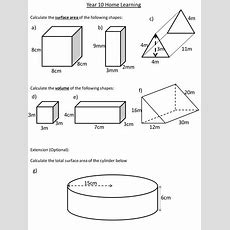 Surface Area And Volume Of Prisms By Dannytheref Teaching  Puzzles  Worksheets, Diagram, Math