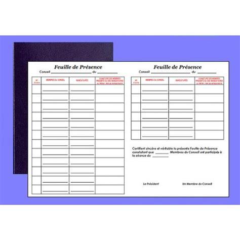 bureau registre des entreprises registre de pr 233 sence au conseil elve 41001 az fournitures