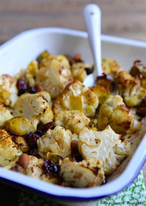 cuisine oliver recettes chou fleur et choux de bruxelles rôtis au four amandes et