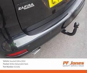 Vauxhall Zafira Tourer 2012 On Detachable Neck Tow Bar