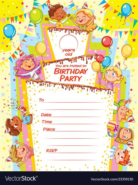 Invitation card for the birthday party Royalty Free Vector