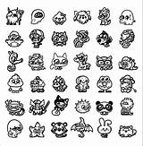 Coloring Moshi Monster Monsters Popular Coloringhome sketch template