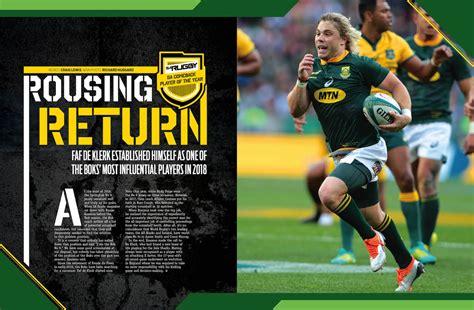 test rugby faf de klerk s rousing return to test rugby