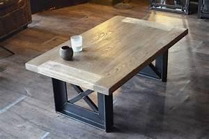 Pied De Table Metal Industriel : 25 parasta ideaa table basse bois pinterestiss table ~ Dailycaller-alerts.com Idées de Décoration