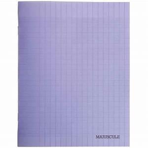 cahier piqures grand carreaux polypropylene 24x32 96p With cahier grand carreaux 24x32