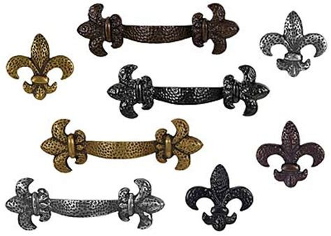 Fleur De Lis Cabinet Door Knobs by Waterwood Hardware Fleur De Lis Collection The Hardware Hut