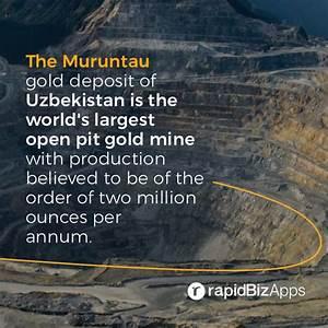 The #Muruntau #gold deposit of #Uzbekistan is the world's ...